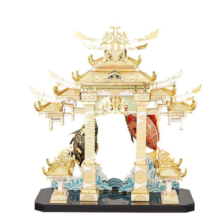 3D-Metal-Assembly-Model-Dragon-Gate-Carps-Model-Puzzle-Toy-TBD04269900