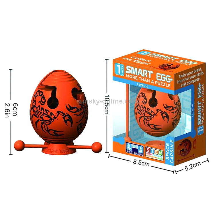 Children-Educational-Toys-Puzzle-Maze-Ball-Thinking-Toy-Maze-EggOrange-TBD0539960701C