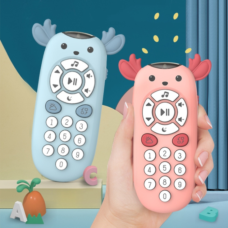 Children-Simulation-Deer-Remote-Control-Mobile-Phone-Toy-Baby-Music-Early-Education-MachinePink-TBD0326840501B
