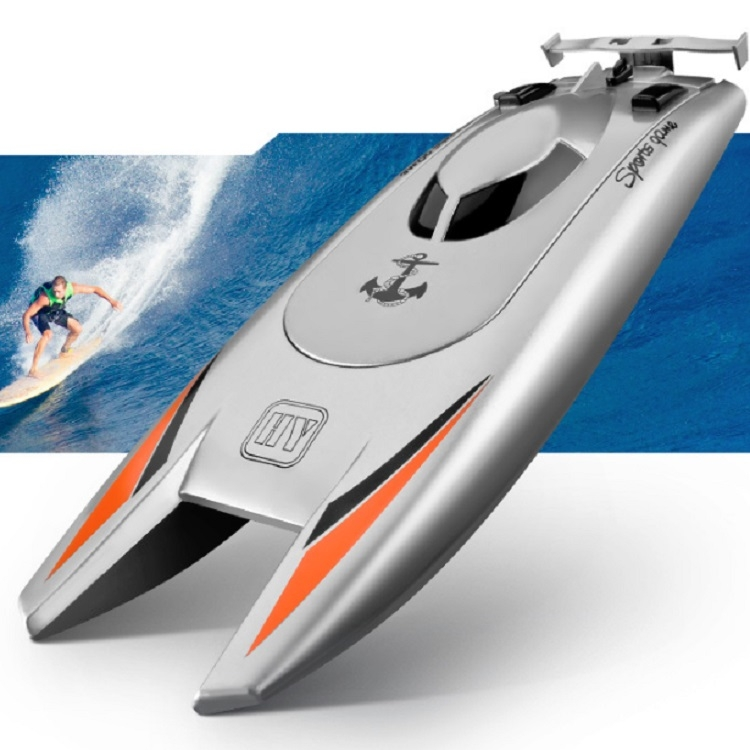 Children-Water-Toy-High-speed-Remote-Control-Boat-74-V-Large-Capacity-Battery-Speed-Boat-Racing-BoatSilver-gray-TBD0190664001A