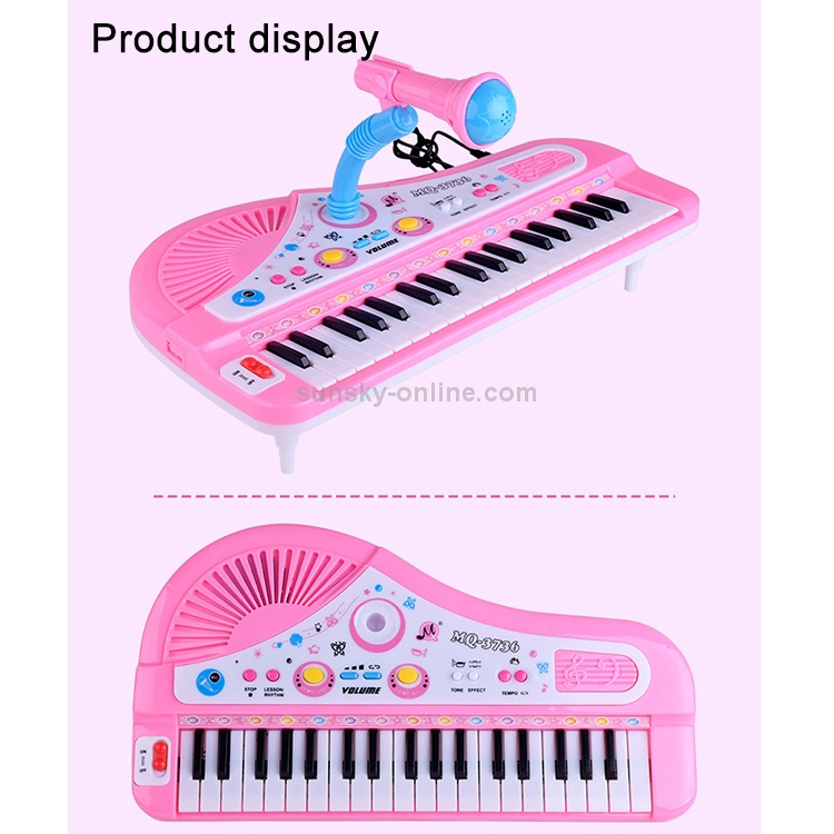 Electronic-Organ-Keyboard-37-key-Electronic-Piano-with-Stands-Microphone-Random-Color-Delivery-S-GPT-0423