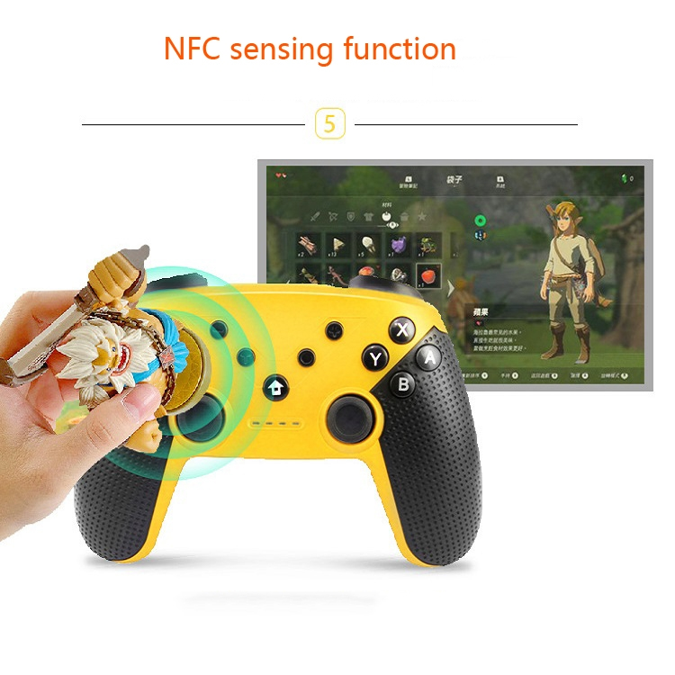 For-SWITCHAndroidPC-All-in-one-Bluetooth-Handle-Dual-Vibration-With-Screenshot-Somatosensory-NFC-Function-Product-color-Black-TBD0426753503