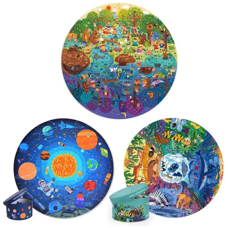 MiDeer-Children-Educational-Early-Education-Paper-Picture-Puzzle-Toy-150-PCS-SetWorld-Animals-TBD0555258301C