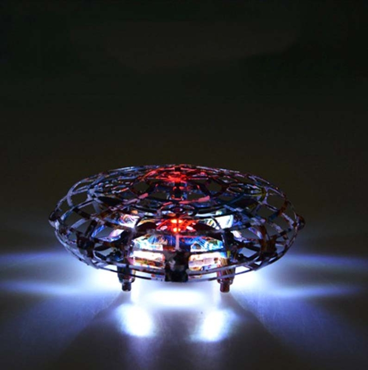 UFO-Aircraft-Induction-Flying-Saucer-Four-Axis-Feel-Intelligent-Interactive-Floating-Fixed-Height-ToyStar-Color-Remote-Control-With-Water-Droplets-TBD0547602301A
