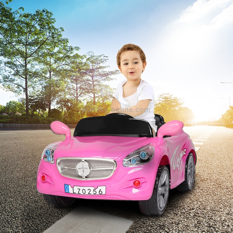 US-Warehouse-12V-24GHz-Kids-Children-Double-Drive-Remote-Control-Ride-On-Car-Electric-Car-Stroller-Pink-KEV3013FUS