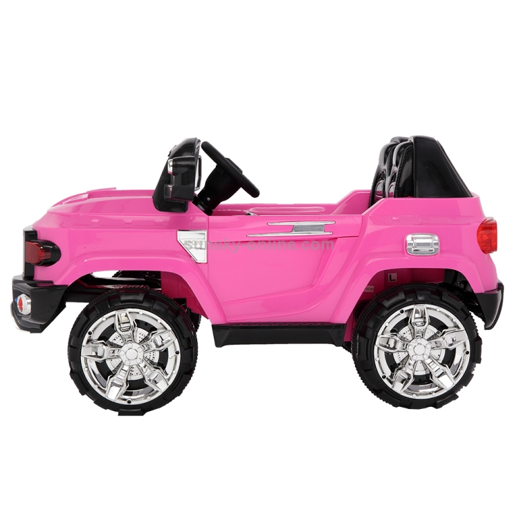 US-Warehouse-12V-24GHz-Kids-Children-Double-Drive-Remote-Control-Ride-On-Car-Electric-SUV-Off-Road-Police-Car-Pink-KEV3019FUS