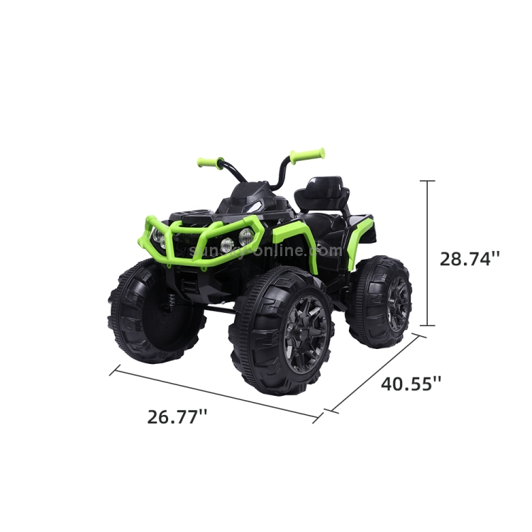 US-Warehouse-Kids-Children-Double-Drive-Ride-On-Car-Electric-Car-ATV-Quad-Toy-Upgraded-Version-Black-Green-KEV3010BGUS