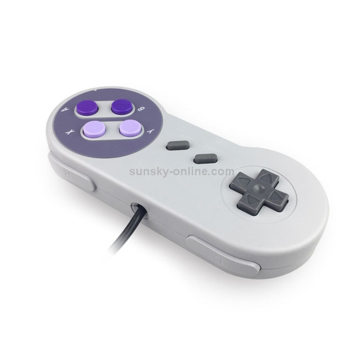 Wired-Game-Controller-Classic-Game-Handle-for-Nintendo-SNES-Purple-NT0221P