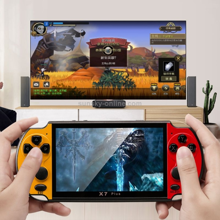 X7-Plus-Retro-Classic-Games-Handheld-Game-Console-with-51-inch-HD-Screen-8G-Memory-Support-MP4-ebook-Photograph-Function-Yellow-CHT1731Y