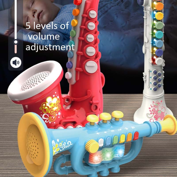 Children-Early-Education-Puzzle-Playing-Simulation-Musical-Instrument-Style-6806-Trumpet-Blue-TBD0539262102