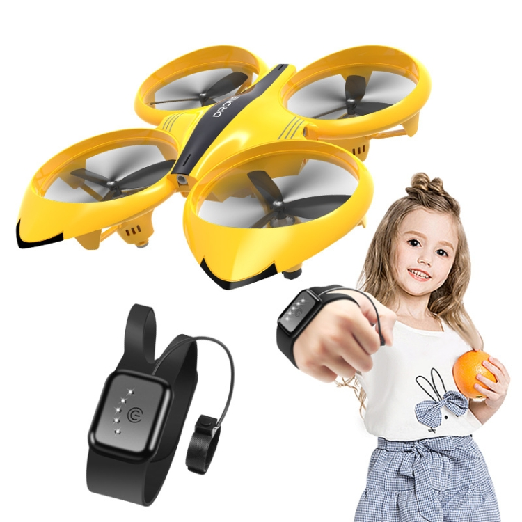 Watch-Remote-Control-Four-Axis-Toy-Gesture-Induction-Floating-AircraftYellow-TBD0544943901B